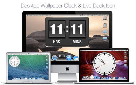 desktop clock wallpaper clock live dock icon 2 0 macos