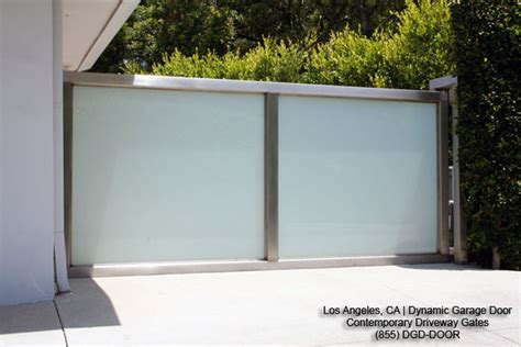 garage gate designs modern courtyard gates in stainless steel frosted glass