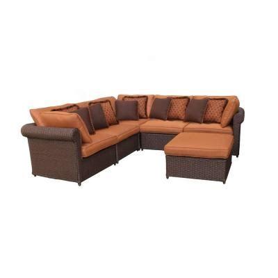 home depot outdoor sofa hton bay cibola 6 piece sectional patio seating set