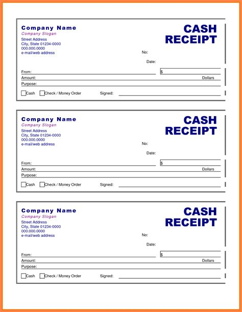 Receipts Template Doc by 5 Receipt Format Doc Receipts Template