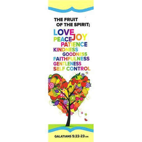 5 fruits of the spirit fruit of the spirit bookmark 10 pack