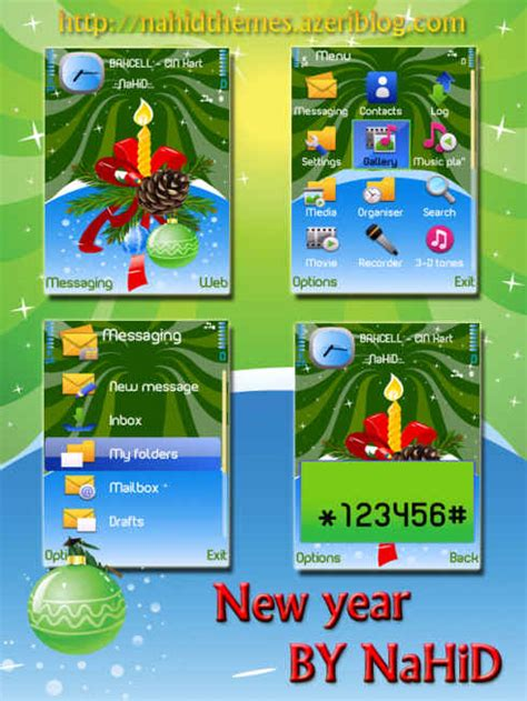 new themes s60 new year theme free download for symbian s60 3rd and 5th