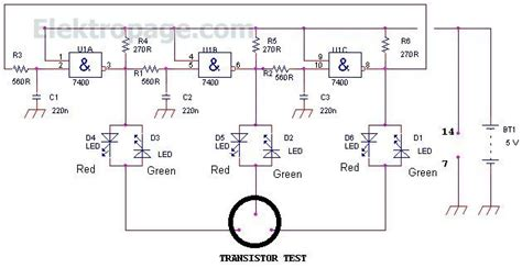 transistor darlington test transistor test transistor tester circuit schematic schematic circuits elektropage