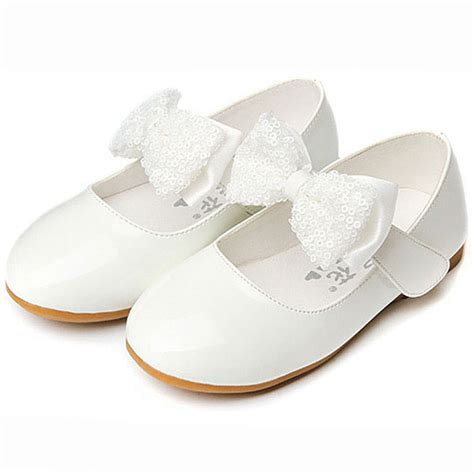 white shoes for toddler 2016 new flat heel sequins bow tie shoes fashion