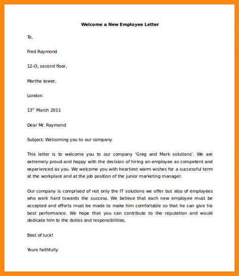 new employee email template new employee welcome email template business
