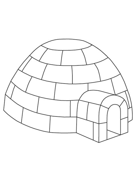 igloo coloring page free on igloo coloring pages