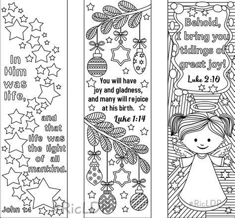 printable bible bookmarks to color 9 printable christmas coloring bookmarks 6 designs with bible