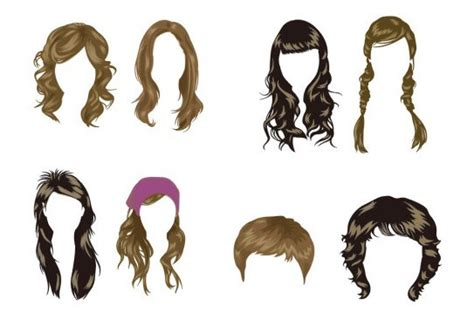 Free Vector Women's Hairstyles   TitanUI