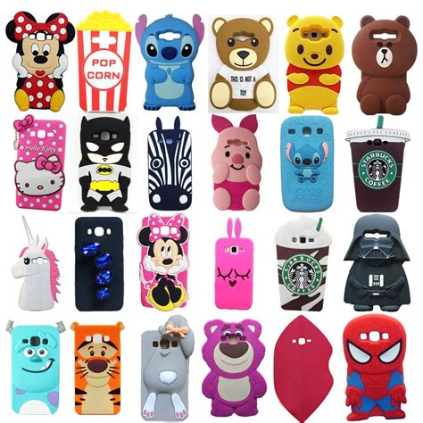 Samsung J1 Ace Soft Silicon Back Cover 3d Teddy Tpu new 3d soft silicone back cover for