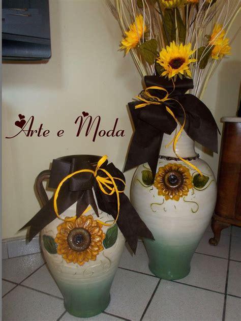 vasi dipinti vasi dipinti con girasole in rilievo per la casa e per