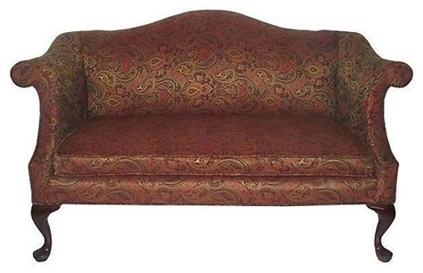 queen anne style sofa vintage queen anne style camelback sofa traditional