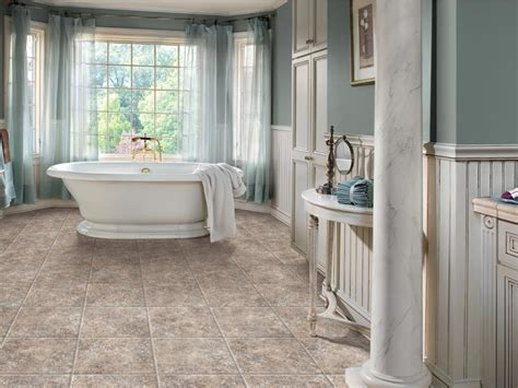 What Is The Best Flooring For A Bathroom by Vinyl Bathroom Floors Hgtv