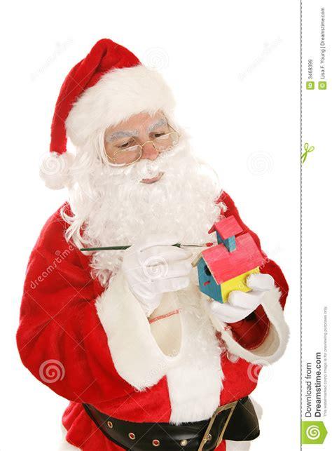 santa making toys royalty free stock images image 3468399