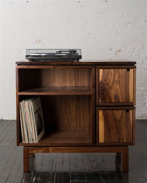 diy record player cabinet walnut record player stand furniture pinte