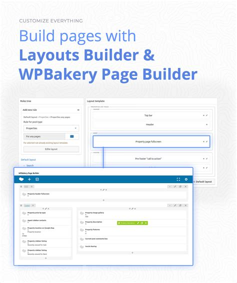 layout builder widget area 1 area wordpress plugin real estate cms with 60 wpbakery