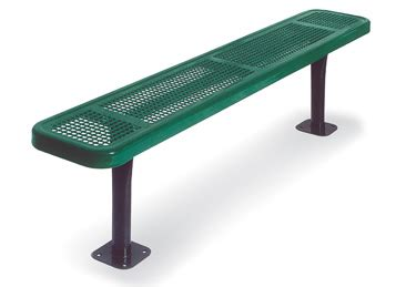 thermoplastic benches 6 feet park bench withoutut back 2 inch x 12 inch planks
