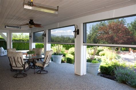 Motorized Retractable Screens For Porches motorized retractable screens for patios porches phantom executive screens traditional