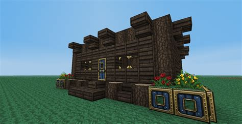 How To Make A Cabin In Minecraft by Custom Log Cabin Minecraft Project