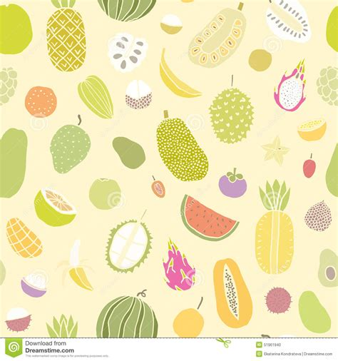 seamless pattern collection cherimoya seamless pattern collection of exotic fruits