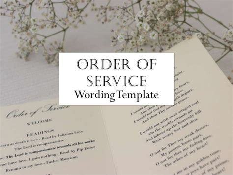 Wedding Order of service   What to include in your wedding