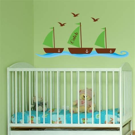Custom Wall Decals For Nursery Nautical Decals For Nursery Personalized Nautical Wall Decals