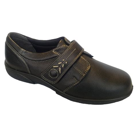 db shoes db shoes healey black single touch velcro wide fitting shoes