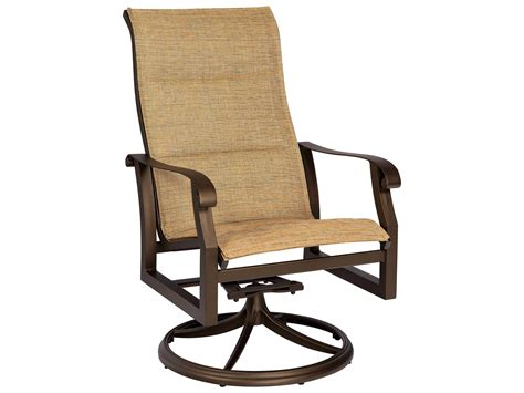 Swivel Rocker Patio Chair Repair by Woodard Cortland Padded Sling Aluminum High Back Swivel