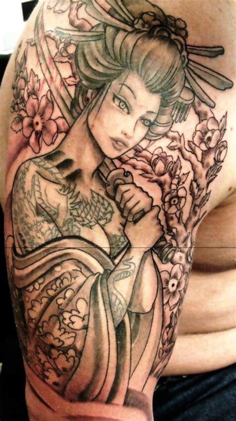 tattoo geisha na perna geisha tattoo arm designs insigniatattoo com