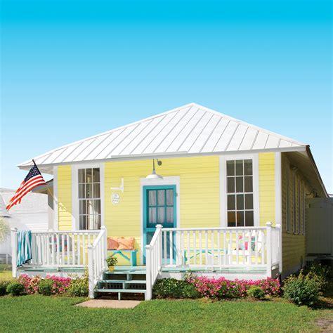beach cottage little yellow beach cottage tour coastal living