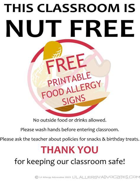 printable allergy poster 12 best food allergy printables images on pinterest food