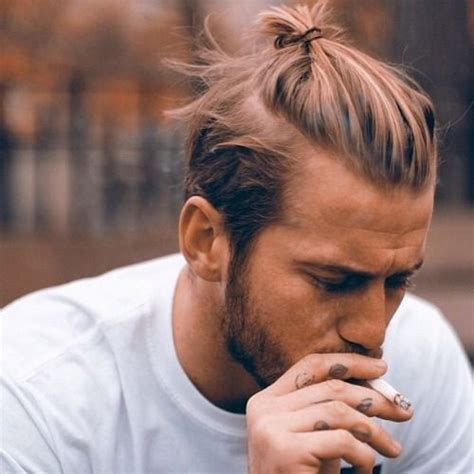 Ponytail On Top Short On Sides | photo death by elocution beards men long hair and