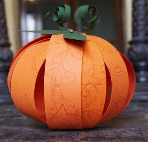 Paper Pumpkins - fall crafts mysuperfoods