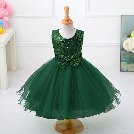 zuemruet yesili kiz cocuk abiye elbise prenses model kabarik