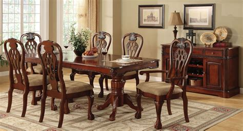 Pedestal Dining Room Table Sets George Town Rectangular Pedestal Formal Dining Room Set From Furniture Of America