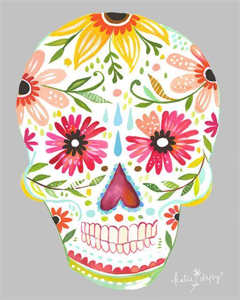Sugar Skull Decorations by Sugar Skull Vertical Print By The Wheatfield