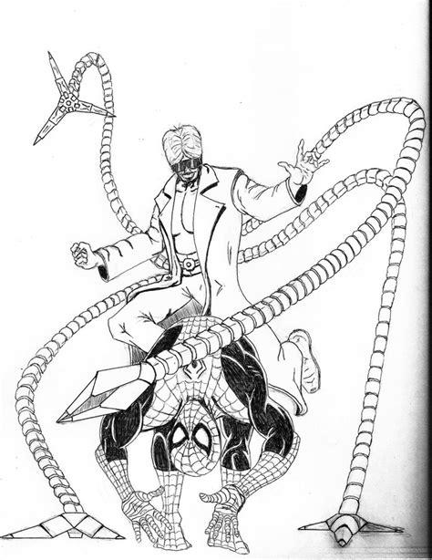 doc ock vs spider man by jauntumany on deviantart