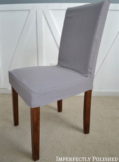 how to sew a parsons chair cover imperfectly polished