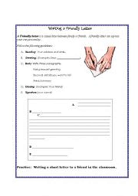 Writing Friendly Letters Worksheets by Worksheet Friendly Letter