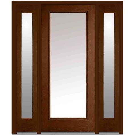 60 X 80 Doors milliken millwork 60 in x 80 in clear glass right lite classic stained fiberglass