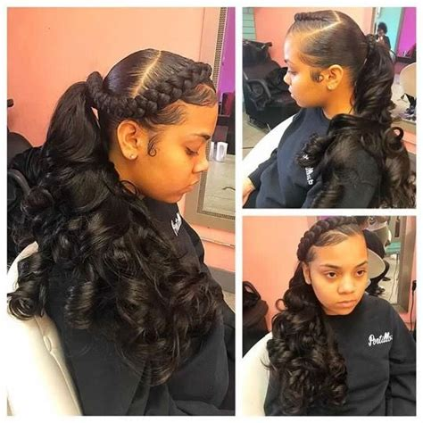 weave hairstyles for teens com exoticmamii hair pinterest ponytail black girls
