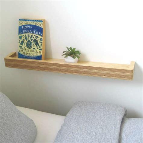 slimline floating shelf bright blue living
