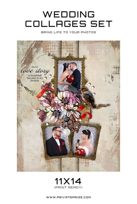 wedding collages templates 17 best images about wedding collages set just married