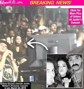 Selena gomez shows up to justin bieber s la concert see the epic