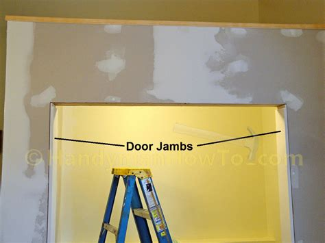 how to a to a door closet door side jambs
