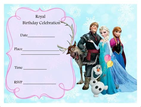 printable frozen designs free printable frozen party invitations theruntime com