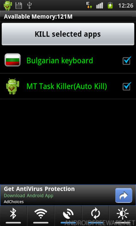 Android Kill App by Mt Task Killer Auto Kill Free Android Apps Android Freeware