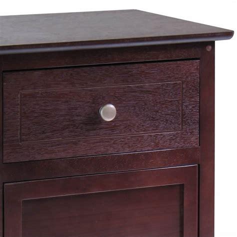 Nightstand With Drawer Nightstand With Drawer And Cabinet In Antique Walnut 94215