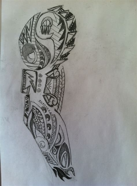 tattoo sleeve designs sketches free sketch of tribal on arm wandering