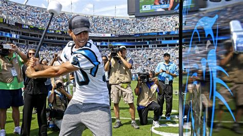steph curry at carolina panthers 2015 home opener