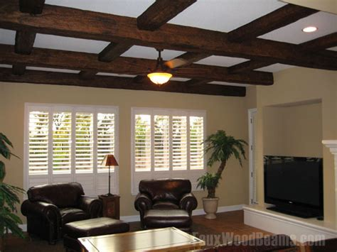 diy coffered ceiling ideas design ideas with faux beams